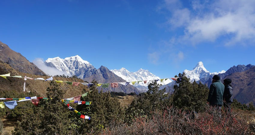 Everest View from Namche Bazar