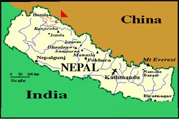 Nepal Map - Remarkable Treks And Tour