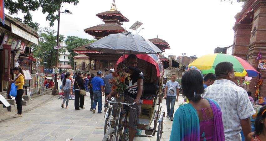 Rikshaw in Kathmandu Durbar Square